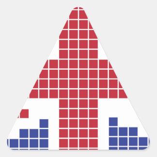 8-bit Pixels Union Jack British(UK) Flag Stickers