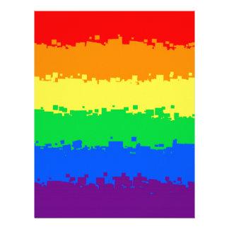 8 Bit Pride Flag Letterhead