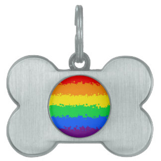 8 Bit Pride Flag Pet Name Tag