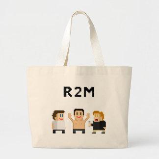 8 bit R2M Large Tote Bag