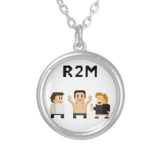 8 bit R2M Round Pendant Necklace