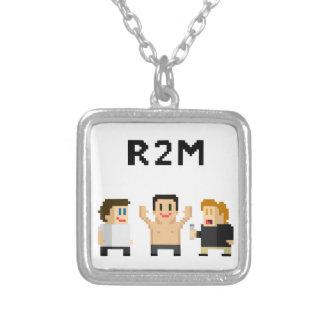 8 bit R2M Square Pendant Necklace