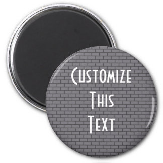8-Bit Retro Brick, Grey Magnet