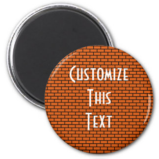 8-Bit Retro Brick, Orange Magnet