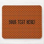 8-Bit Retro Brick, Orange Mouse Pad