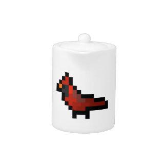 8-Bit Retro Cardinal Teapot