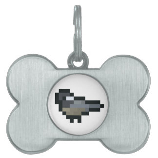 8-Bit Retro Chickadee Pet ID Tag