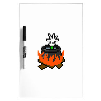 8 bit retro games boiling people in a pot Dry-Erase board