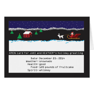 8-bit Retro Gaming Holiday Card