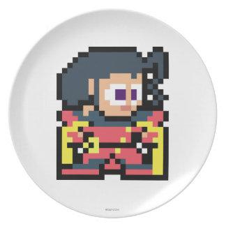 8-Bit Rose Dinner Plate