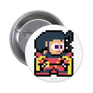8-Bit Rose Pinback Button