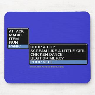 8 Bit RPG Battle Menu Mouse Pad