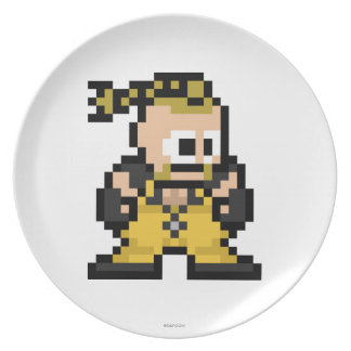 8-Bit Rufus Melamine Plate