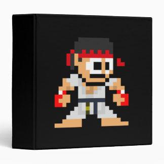 8-Bit Ryu 3 Ring Binder