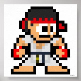 8-Bit Ryu Poster