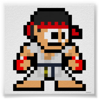 8-Bit Ryu Posters