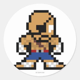 8-Bit Sagat Classic Round Sticker