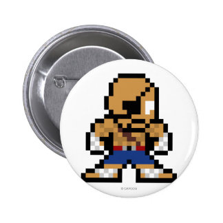 8-Bit Sagat Pinback Button