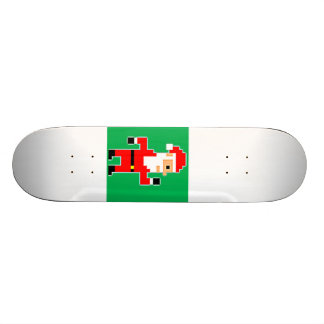 8-Bit Santa Skateboard