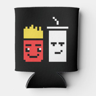 8 Bit Shake and Fries Can Cooler