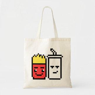 8 Bit Shake and Fries Tote Bag