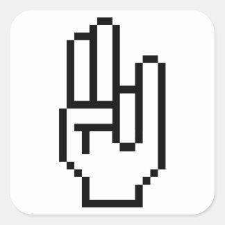 8 Bit Shocker Square Sticker