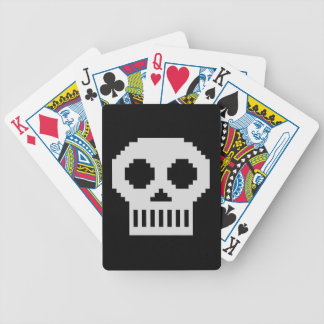 8-Bit Skull Bicycle Playing Cards