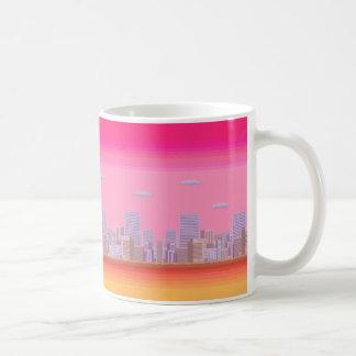8-bit Skyline Coffee Mug
