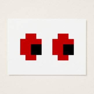 8 Bit Spooky Red Eyes Business Card