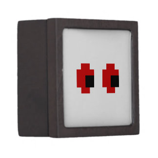 8 Bit Spooky Red Eyes Jewelry Box