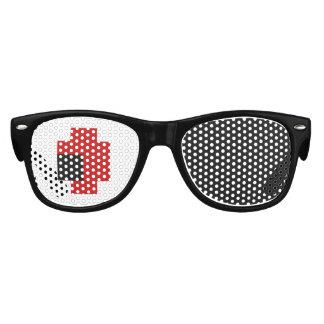 8 Bit Spooky Red Eyes Kids Sunglasses