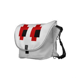 8 Bit Spooky Red Eyes Messenger Bag