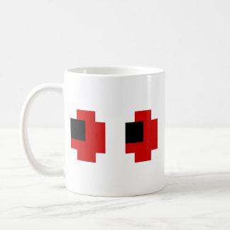 8 Bit Spooky Red Eyes Classic White Coffee Mug