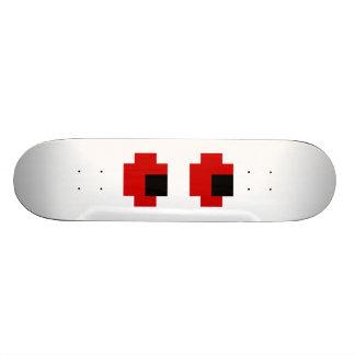 8 Bit Spooky Red Eyes Skateboard Deck