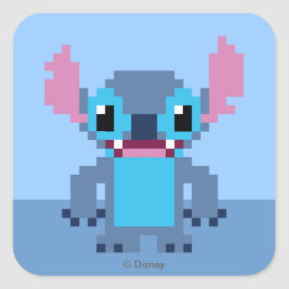 8-Bit Stitch Square Sticker