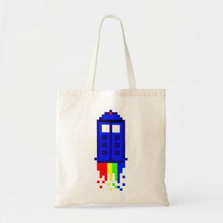 8 Bit Time Travel Tote Bag