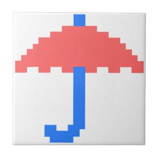 8 bit Umbrella Ceramic Tile