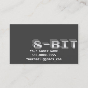 8 Bit Business Cards Zazzle