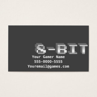 8-Bit Video Game Gamer Business Cards