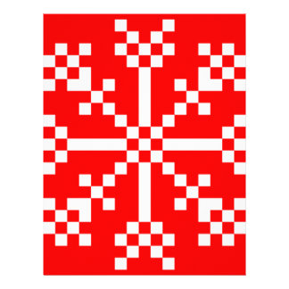 8 bit Video Game Snowflake Letterhead