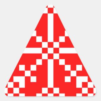 8 bit Video Game Snowflake Sticker