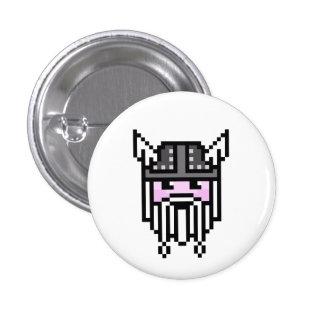 8 Bit Viking Pinback Button