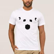 8-Bit White-Out Polar Bear T-Shirt