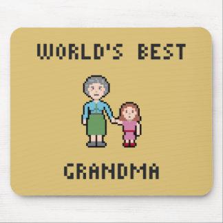 8 Bit World's Best Grandma Mousepad