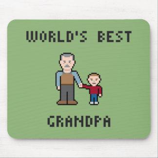 8 Bit World's Best Grandpa Mousepad