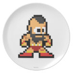8-Bit Zangief Dinner Plate