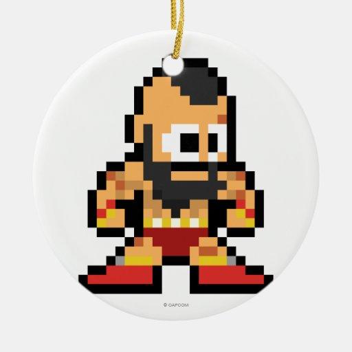 8-Bit Zangief Ornament