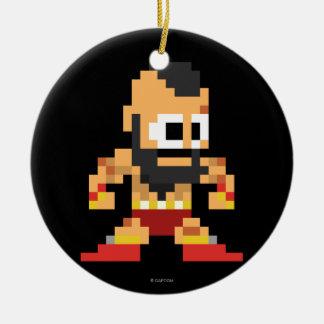 8-Bit Zangief Christmas Ornament