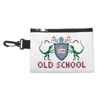 8 Bits Old School Dinosaur Clip On Accessory Bag