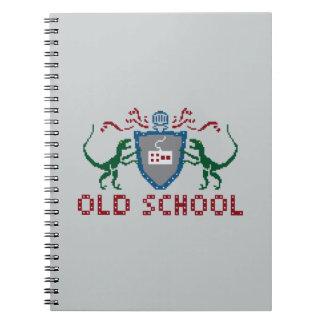 8 Bits Old School Velociraptor Notebook
